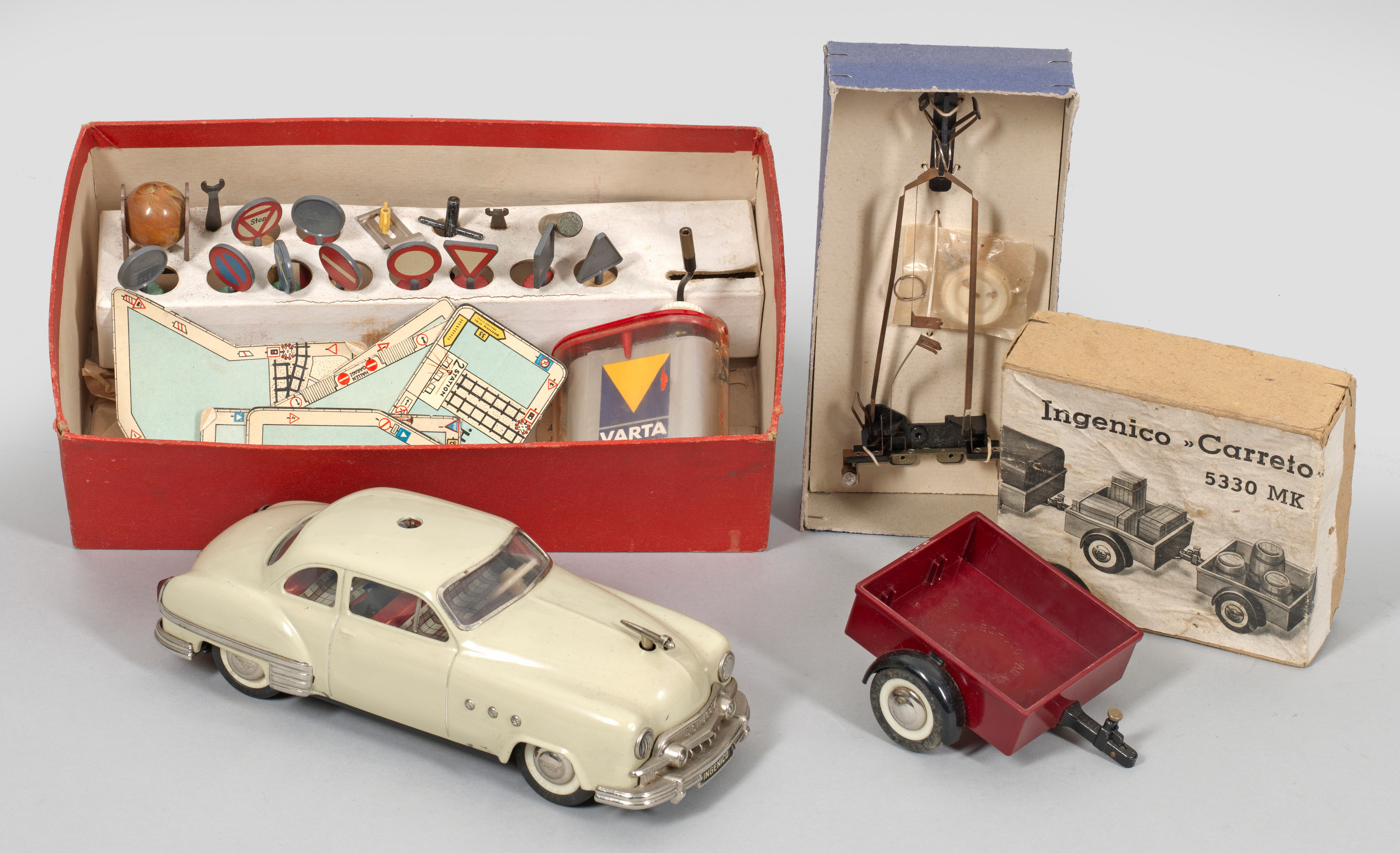 Blechspielzeug Repro Box Schuco Combinato 4003 bordeauxrot
