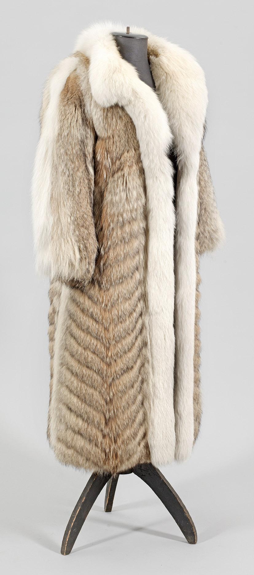 Vintage Kojotenfell-Mantel aus den 70er Jahren